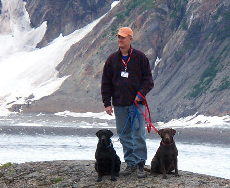 Dogs at Glacier